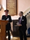 <p>Here is The Lord-Lieutenant for Norfolk is Mr Richard Jewson, J.P. presenting the Queens Award For Volunteers to Mike Sarre</p>